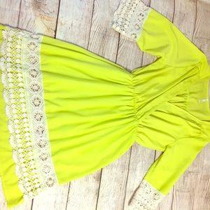 Neon Boho Sage Brand Dress